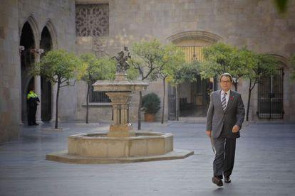 Artur Mas, esta mañana en la Generalitat.