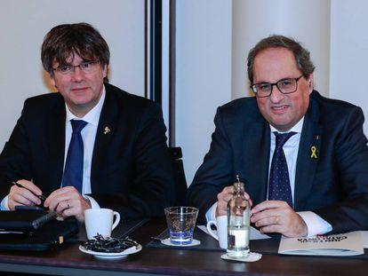 Carles Puigdemont y Quim Tuesta.