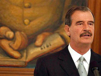 Vicente Fox en un acto oficial cuando era presidente de México.