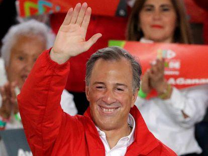 El candidato del PRI, José Antonio Meade, en un acto de campaña.