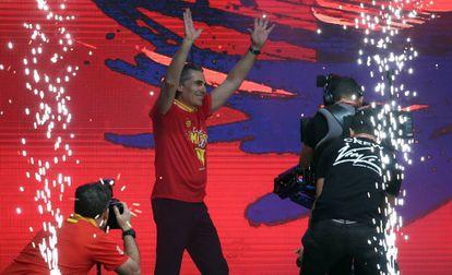 Sergio Scariolo, durante la celebración del Mundial de Baloncesto, en Madrid el 16 de septiembre.