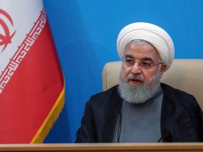 Hasán Rohaní, presidente iraní, este martes.