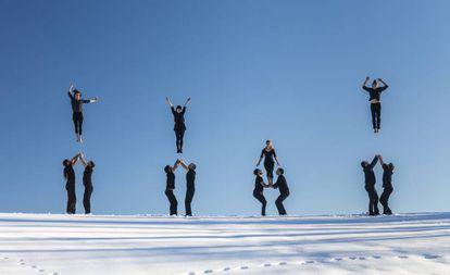 La compañía francesa de danza-circo Cie XY, en una imagen de promoción de su montaje Möbius.