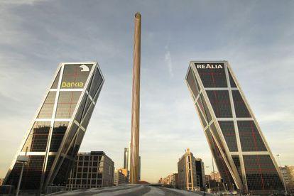 Los edificios de Bankia y Realia en Puerta de Europa, Madrid