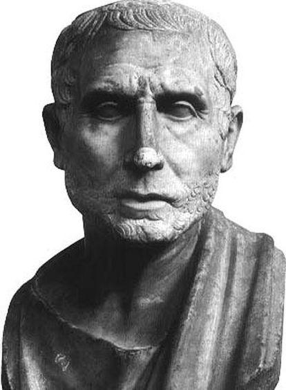Busto del astrónomo Posidonio de Apamea.