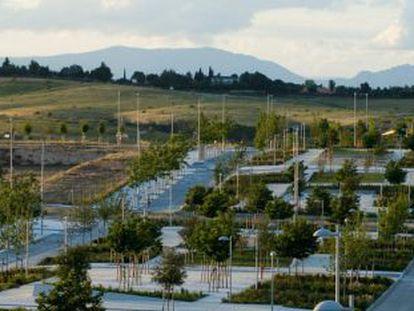 Imagen de archivo del desarrollo urbanístico de Valdebebas.