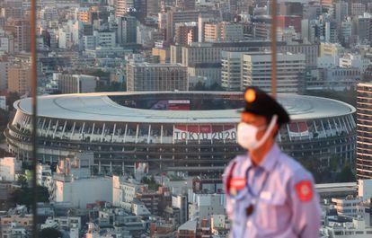 El Estadio Nacional de Tokio, este lunes.