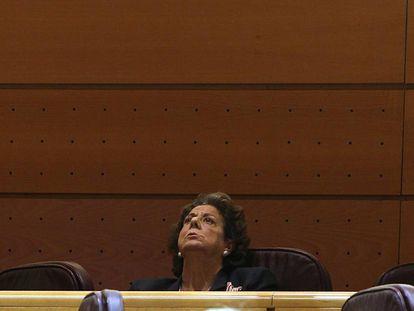Rita Barbera durante el pleno del Senado.