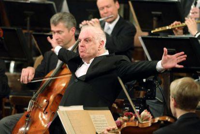 Daniel Barenboim durante su concierto del año en Viena.