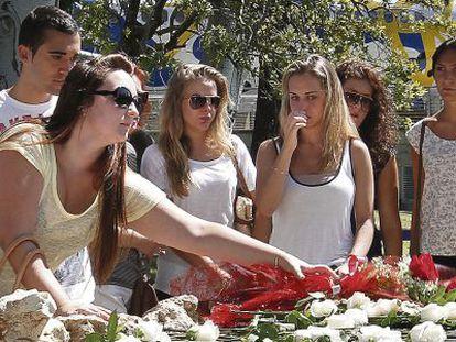 Un homenaje de las víctimas del accidente en 2013.