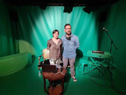 Isabella Pintani y Felipe Cabezas en la Sala Fènix, ayer.