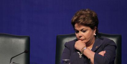 La presidenta de Brasil, Dilma Rousseff, en el Foro de Davos