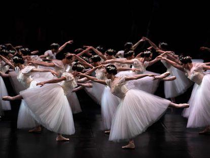 Ensayos, en enero de 2020, de 'Giselle' en la Ópera de París.