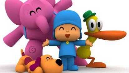 Personajes de la serie Pocoyó creados por la productora Zinkia.
