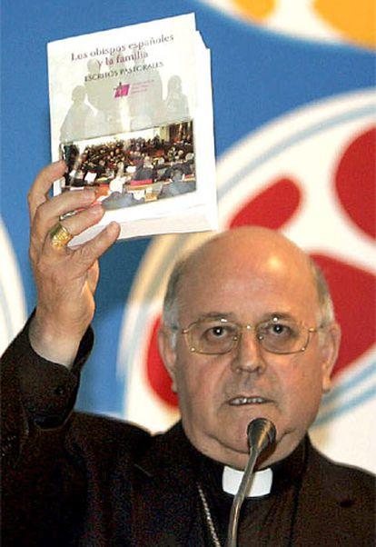 El presidente de la Conferencia Epsicopal, Ricardo Blázquez, en la presentación de un libro de escritos sobre la familia.