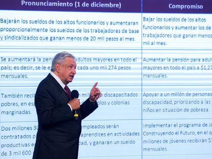 Andrés Manuel López Obrador durante su conferencia de prensa matutina