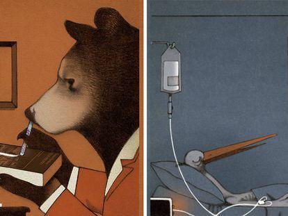 Ilustraciones del libro 'Drogadictos'.