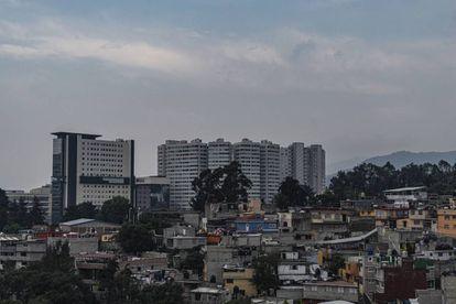 Vista panorámica de la zona de Santa Fe en la Ciudad de México