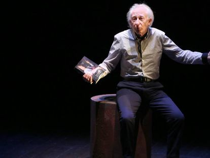 El dramaturgo Albert Boadella, durante su obra 'El sermón'.