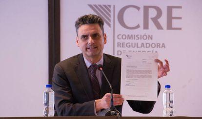García Alcocer, este lunes en la CRE.