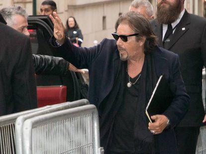El actor Al Pacino llega al Théâtre de Paris para su clase magistral, el pasado lunes.