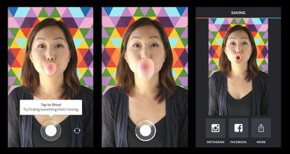 Apariencia de la nueva función de Instagram, 'Boomerang', en un teléfono con Android.