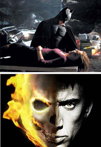 Christopher Nolan dirigirá <i>The Dark Knight</i>, la secuela de <i>Batman Begins</i> (arriba). Nicolas Cage es un motorista diabólico en <i>Ghost Rider</i>.