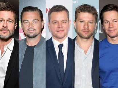 Brad Pitt, Leonardo DiCaprio, Matt Damon, Ryan Phillippe y Mark Wahlberg.