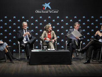 Cristina Garmendia, Manuel Marín, Berna Gónzalez Harbour, Iñigo Méndez de Vigo y José Ignacio Torreblanca.
