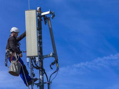 Una antena de telefonía 5G.