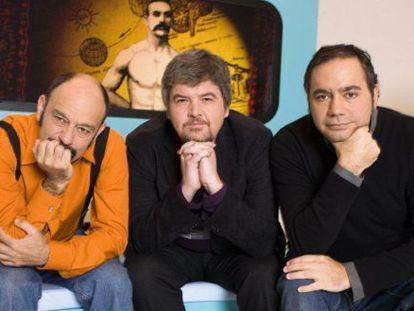 Javier Cansado, Javier Coronas y Pepe Colubi, en 'Ilustres ignorantes'