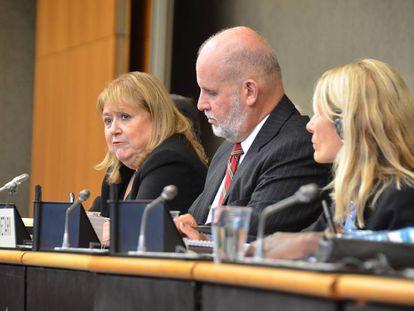 Susana Malcorra, presidenta de la conferencia de OMC en Buenos Aires, durante una reunión de delegaciones, en octubre.