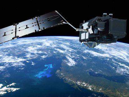 La Tierra vista desde un satélite.