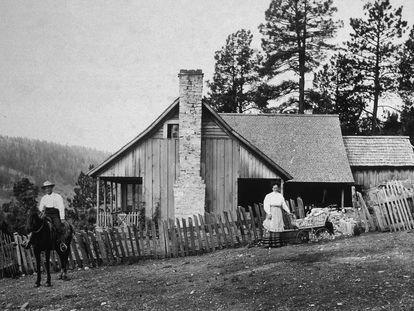Pioneros en el Medio Oeste americano a finales del siglo XIX.