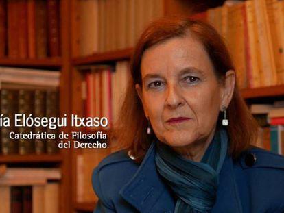 María Elósegui Itxaso, en una imagen de archivo.