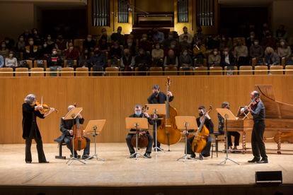Un momento de la interpretación del 'Concierto de Brandeburgo número 6'.