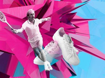 El hombre y su calzado: el tenista Stan Smith y las zapatillas que han acabado siendo más famosas que él.