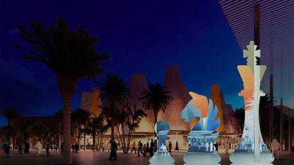 Modelado del diseño arquitectónico del pabellón de España en la EXPO Universal Dubái 2020