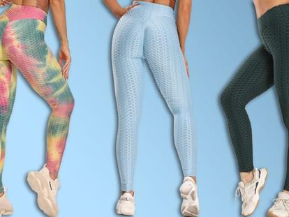 Con un diseño texturizado que realza las curvas en la parte trasera, estos 'leggings' están siendo un éxito de ventas en Amazon.