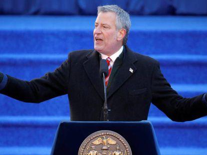 El alcalde Bill de Blasio, al iniciar su segundo mandato