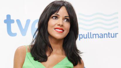 Raquel del Rosario, en la presentación de la candidatura de España a Eurovisión 2013.