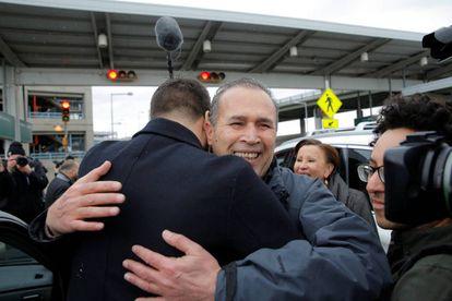 Hameed Darweesh tras ser liberado en Nueva York.
