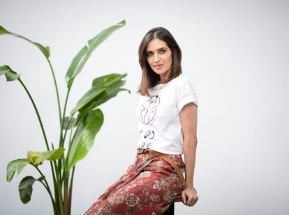 Sara Carbonero, en la presentación de la nueva colección de su marca Slow Love junto al grupo Tendam el pasado jueves en Madrid.