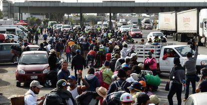 Caravana de refugiados latinoamercanos hacia Estados Unidos
