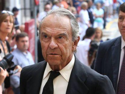 Jaime Botín en Santander, el día del funeral de su hermano Emilio, en septiembre de 2014