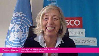 Giannini durante su intervención en Retina Reset