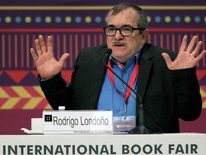 Rodrigo Londono, en México, en diciembre de 2019. En vídeo, las autoridades colombianas frustran un atentando contra el último comandante de la guerrilla de las FARC y ahora el líder de su partido político.