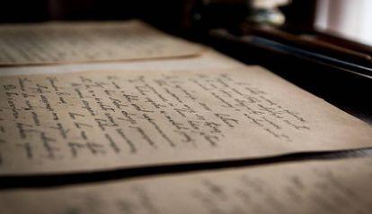 Una carta manuscrita.