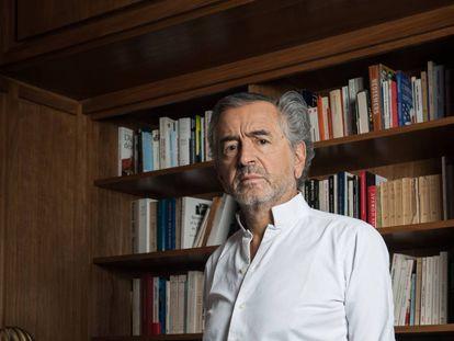 Bernard-Henri Lévy, en su domicilio en París.