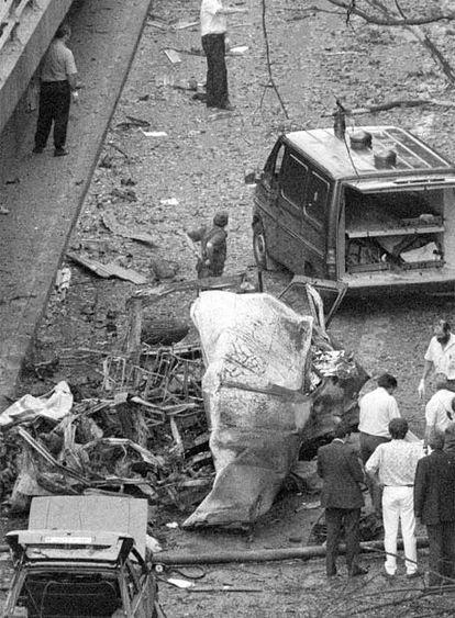 21 de junio de 1993, atentado de ETA en Madrid. Siete muertos.